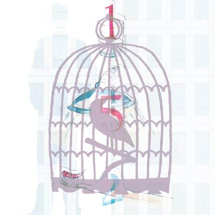 Illustration Dodo Kresse: www.summerhill.at - Das Bild zeigt eine Illustration eines einfachen Vogelkäfigs. Im Inneren sitzt ein Vogel auf einem Ast. Das ganze Bild ist nur schematisch zu erkennen.